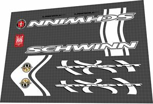 Schwinn Straight 8 Decal Set