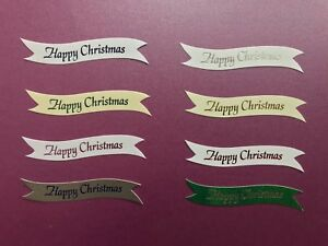 Happy Christmas banners / card toppers pk10 (3 new colours)