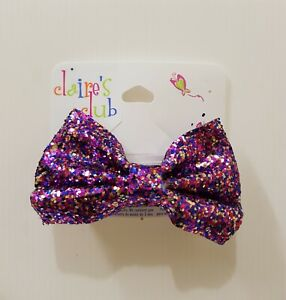 New Claire's Club Girls Kids 1 piece Hair Accessories Hair Clips Glitter Bow