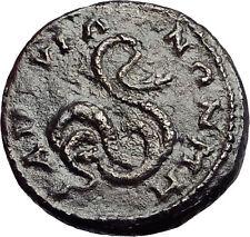 JULIA DOMNA - ANKYRA in Phrygia Galatia COILED SERPENT Ancient Roman Coin i57894