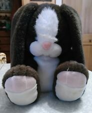 """Fine toy company 11"""" plush brown bunny manufacturer's sample."""