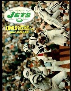 1969 AFL Football New York Jets Yearbook - Joe Namath cover - VG-EX+