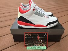 DS Nike Air Jordan Retro III 3 White Fire Red Blk Cement sz 8 2006 1 2 4 5 6 11