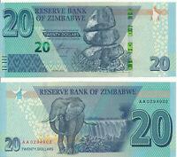 Zimbabwe / Simbabwe [135] - 20 Dollars 2020 UNC - Pick New