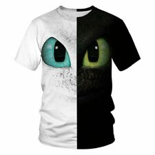 Printed Short Sleeve How Train Your Dragon Inspired T-Shirt Night Fury Unisex