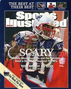 Randy Moss New England Patriots Sports Illustrated  8x10 11x14 16x20 photo 552