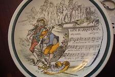 Lucie de Lammermoor France Plate, marked -SUJETS MUSICAUX TERRE DE FER FRANCE[4b
