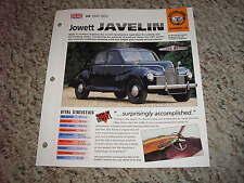 UK 1947-1953 Jowett Javelin Hot Cars Group 1 # 39 Spec Sheet Brochure