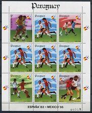 PARAGUAY 1984 Fußball WM Soccer Spanien Mexico 3746 Kleinbogen ** MNH