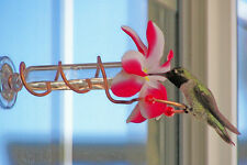 Great Christmas Gift Idea. HAND CRAFTED Copper Window Mount Hummingbird Feeder