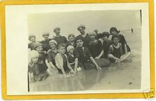 Real Photo Postcard RPPC - Bathers at Beach