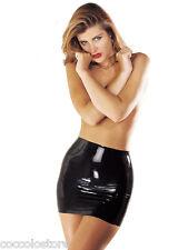 SHARON SLOANE MiniGonna Corta Aderente Nera 100% Vero Latex Fetish Mini Skirt