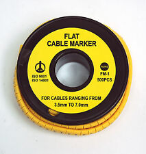 1 roll PVC Cable Marker FM-1 Wire=14~8AWG 2~8sq Cable Range=φ3.5~7mm RoHS KSS