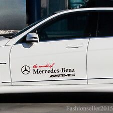 2Sides Decal Vinyl Car Stickers for Mercedes-benz Auto Doors Pannel Waist Lines