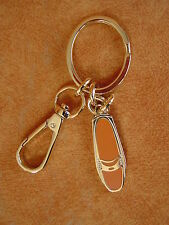 Cole Haan Key Chain Fob keychain FLAT PENNY SHOE DRIVER orange NEW with box