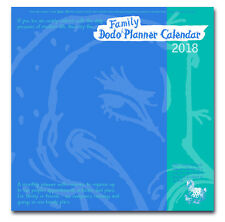 DODO FAMILY PLANNER CALENDAR 2018 Month-to-view organiser-planner/up to 5 people