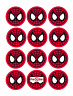 35 Spiderman Cupcake Cake Toppers Decorations Edible Wafer Paper *Pre Cut*