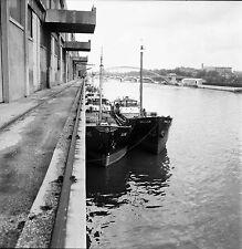 PARIS c. 1950 - Le Port de Commerce Bateaux - Négatif 6 x 6 - N6 P121