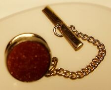 Vintage Red Elegant Tuxedo Button Formal Button Gold-Tone Tie Pin Tie Tack