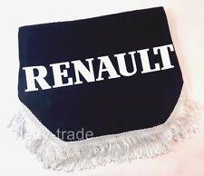RENAULT finestra scudo Pelmet TENDE PARABREZZA forma d'onda Logo Emblem Nero