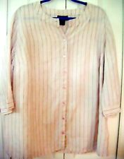 STYLE & CO Macy's Size 16W-Pastel Striped Blouse-3/4 Cuff Sleeve