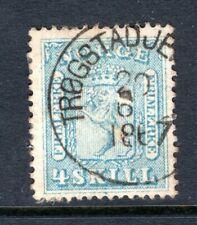 NORWAY Stamp, Scott #8, 1863, Used, Nice 1867 TROGSTAD Cancel
