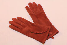 LAUREN Ralph Lauren ruffle edge LEATHER Gloves (L)