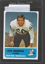1962 Fleer Football #37 KEN ADAMSON Broncos 11263