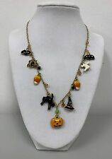 New Halloween Charms Bat/Spider/Candy/Black Cat/Pumpkin/Witch Hat/Ghost Necklace