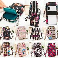 Mobile Phone Shoulder Bag Pouch Case Belt Handbag Purse Wallet Cross-body Women