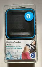 Tank Bass Portable Water Resistant Bluetooth Wireless Speaker - New