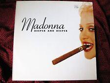 "Madonna DEEPER & DEEPER Rare FULL DIFFERENT COVERS 12"" UK Single Vinyl Record LP"
