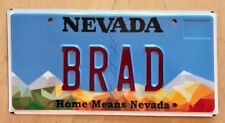 "NEVADA GRAPHIC VANITY LICENSE PLATE  "" BRAD ""  BRADLEY  BRAD'S BRADFORD"