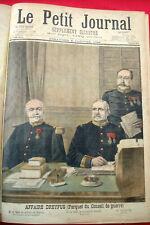 LE PETIT JOURNAL Supplément Illustré 1898 ANNEE COMPLETE DREYFUS