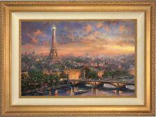 Thomas Kinkade Paris City of Love 18 x 27 LE Canvas A/P (Gold Frame)