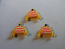 Lego 3 torses pirates set 6271 6267 6403 1970 6268 / 3 yellow minifig torsos