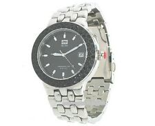 NEW MARC ECKO E95004G2 40mm ST STEEL SILVER BLACK CRYSTALS MEN'S WATCH #11