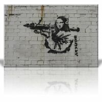 Canvas Print Wall Art - Mona Lisa with Rocket Launcher and Headphones - 32 x 48