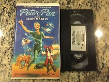 PETER PAN LIVE STAGE PLAY VERSION RARE VHS! HTF ON DVD! 1960 MARY MARTIN LIVE!