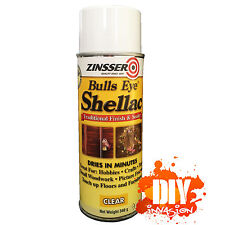 Zinsser Bulls Eye Shellac Clear Spray Wood Sealer Timber Furniture Repair Hobbie
