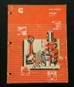 Genuino CUMMINS VTA-28 Serie Motor Diesel Partes Manual Catalog Muy Bueno Forma