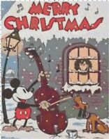 Merry Christmas Vintage Mickey and Pluto Cross-Stitch DIGITAL Pattern Chart