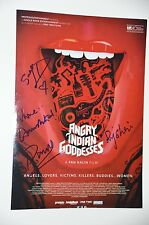 4 x cast from Angry Indian Goddesses SIGNED FOTO 20x30cm; autografo/Autograph