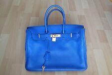 ORIGINAL HERMÉS PARIS BIRKIN BAG 35 ELECTRIC BLUE