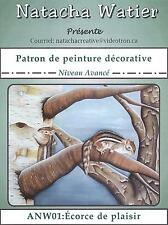 Art Adult Painting Pattern Patron Par Natacha Watier Écorce de Plaisir French