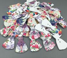 DIY 20X Buttons Dress Flower/bird/peacock pattern Mixed Sewing scrapbooking 38mm