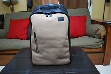Jack Spade Mens Industrial Canvas & Leather Backpack Shitake NEW