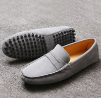 Suede Leather Mens Driving Moccasin Slip On Loafers Shoes UK Size 5-12 B #78