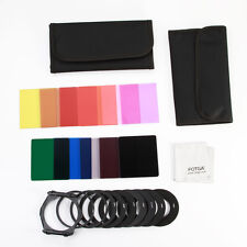 11pcs ND2 ND4 ND8 Square Color Filter Set + 9pcs Ring Adapter for Cokin P Series