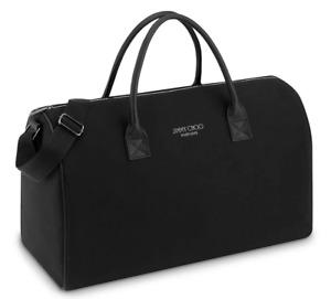 Jimmy Choo Parfums black duffle carry on overnight gym travel bag weekender new!
